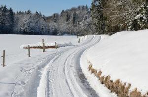 Snow on path